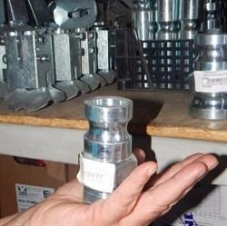 Переходник соединительный 25 мм внешний папа  с внешней резьбой - фото 5847