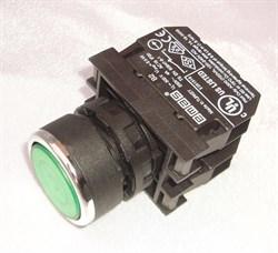 Кнопка зеленая с подсветкой М22 4А - фото 5848