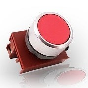 Кнопка красная с подсветкой М22 4А - фото 5849